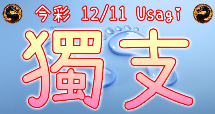 今彩539 2020/12/11 Usagi 精選獨支 全車 供您參考