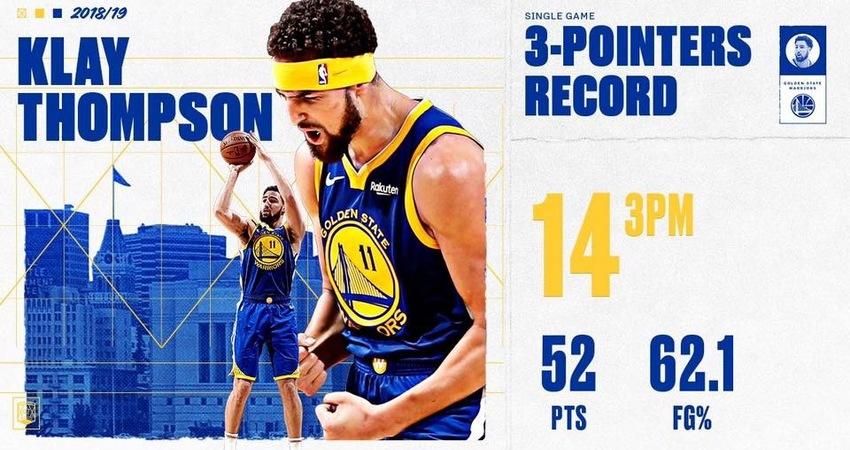 Klay:Curry看著數據統計對我說,去破紀錄吧