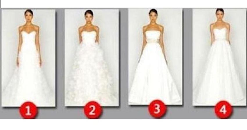 超准心理測試:4件婚紗選出1個,測出你最真實的個性特點