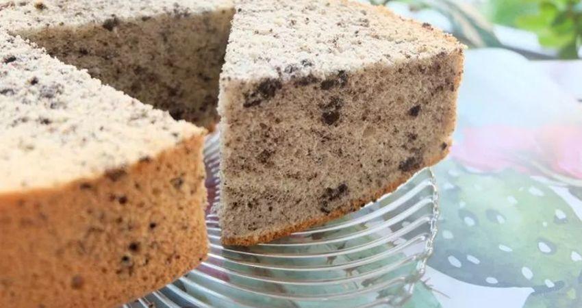奧利奧戚風蛋糕 ! 小小的改變,讓戚風的口感更多樣性。