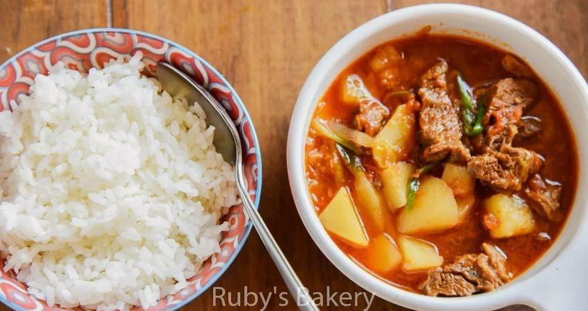 茄汁燉牛肉~~超級下飯的家常菜
