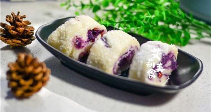紫薯加上糯米粉,在家也能做好吃的早餐,軟糯好消化,小孩都愛吃