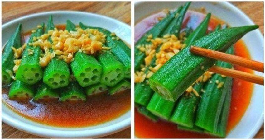 (試一試你會喜歡!)秋葵這樣做最好吃,每次一盤都不夠吃!