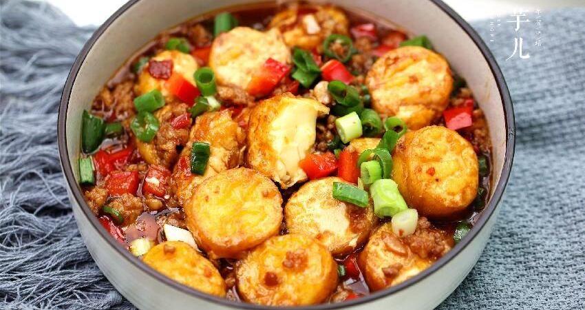 脆皮玉子豆腐最美味的做法!外酥裡嫩,醬汁鮮香,一口一個停不了