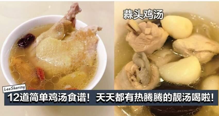 (12道雞湯食譜)簡單又健康,學起來,你就是煲湯高手!天天都有熱騰騰的靚湯啦!