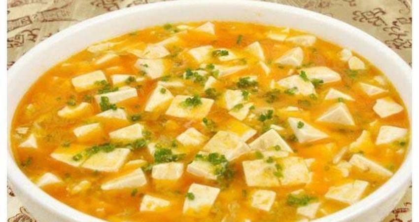 美食做法家常菜:蟹黃豆腐