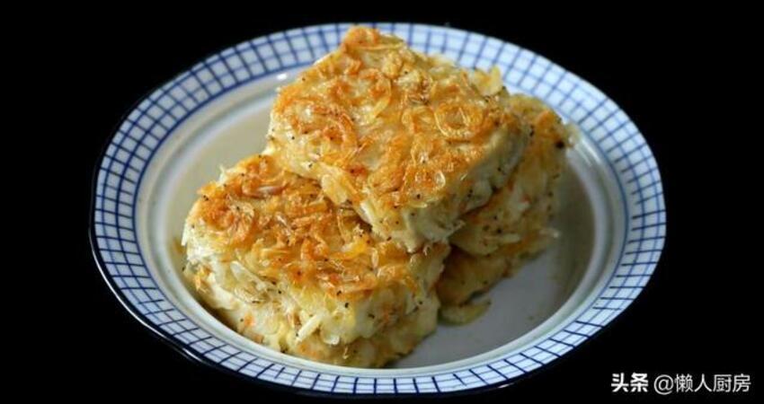 豆腐別直接煎,教你香煎蝦皮豆腐的做法,老少皆宜,既增加又補鈣